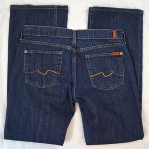 7 For All Mankind Boot Cut Los Angeles Dark Jeans
